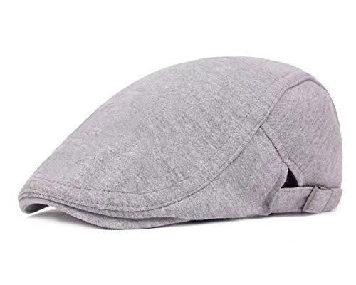 UMIPUBO Sombrero de Boina Vaquera Gorra de Béisbol con Visera Casquillo Vintage Sencilla Ocio al Aire Libre Sombrero del Sol Protector Cap (Gris claro2)