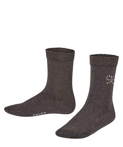 FALKE Unisex Kinder Twinkle Bow Socken, grau (anthrazit 3085), 39-42