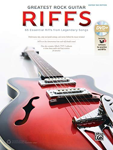 The Greatest Rock Guitar Riffs: Guitar Tab, Book & DVD-ROM