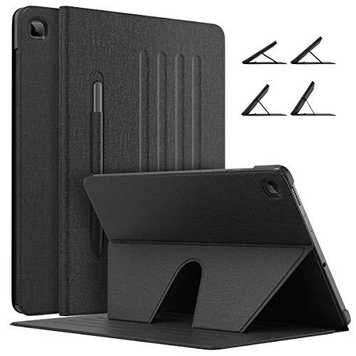 MoKo Magnetische Hülle Kompatibel mit Galaxy Tab S6 Lite 10.4 2020 SM-P610/P615 Tablet, rutschfeste Schutzhülle mit Auto Schlaf/Wach Funktion, Ultra Dünn Ständer Case mit Stifthalter - Schwarz