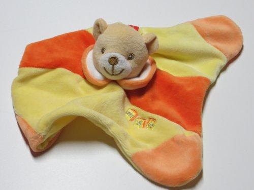 MaxiMo Kuscheltuch Teddy mit Rassel narzisse