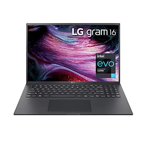 LG Gram 16Z90P - 16' WGXGA (2560x1600) Ultra-Lightweight Laptop, Intel evo with 11th gen CORE i7 1165G7 CPU , 16GB RAM, 1TB SSD, Alexa Built-in, 19.5 Hours Battery, Thunderbolt 4, Black - 2021