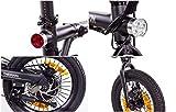 CHRISSON 16 Zoll E-Bike Klapprad ERTOS 16 schwarz - E-Faltrad mit Hinterrad Nabenmotor 250W, 36V, 30 Nm, Pedelec Faltrad für Damen, Herren und Jugendliche, praktisches Elektro Klapprad - 7