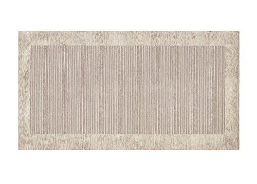 BIANCHERIAWEB Tappeto Passatoia Runner Cucina Retro Antiscivolo Lavabile Disegno Stripes Suardi 55x190 Sabbia