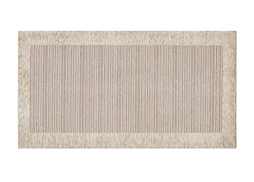 BIANCHERIAWEB Tappeto Passatoia Runner Cucina Antiscivolo Antimacchia Lavabile Stripes Suardi 55x80 Sabbia