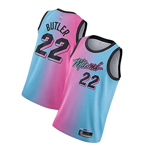 ZRHZB Miami Heat #22 Jimmy Butler #14 Taylor Hilo Camisetas de Baloncesto Jersey,Transpirable y Resistente al Desgaste Camiseta para Fan,A,L