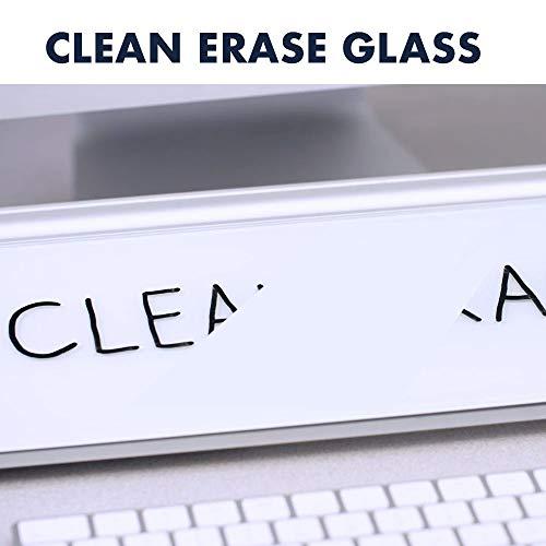 "Quartet Glass Dry Erase Desktop Computer Pad, 18"" x 6"", Frameless Computer Desk Organizer, Small Dry Erase Board for Home Office Desk Accessories, Includes 1 Dry Erase Marker, White (GDP186) Photo #3"