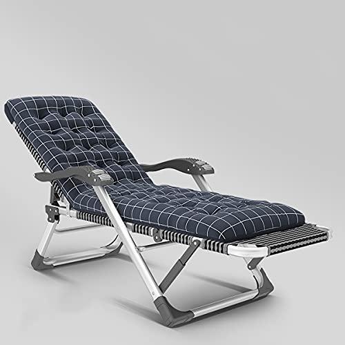 EYCIEROT Tumbona tumbona reclinable con reposacabezas ajustable, peso ligero, plegable, capacidad de carga de 300 kg, para oficina de jardín