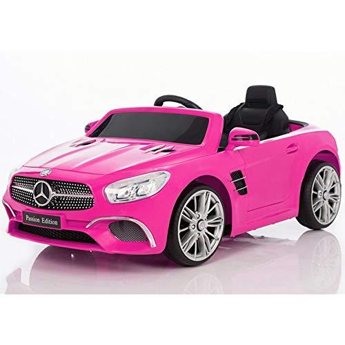 ATAA Mercedes SL400 con Mando para Adultos - Rosa Coche eléctrico para niños versión 2020 con batería 12V