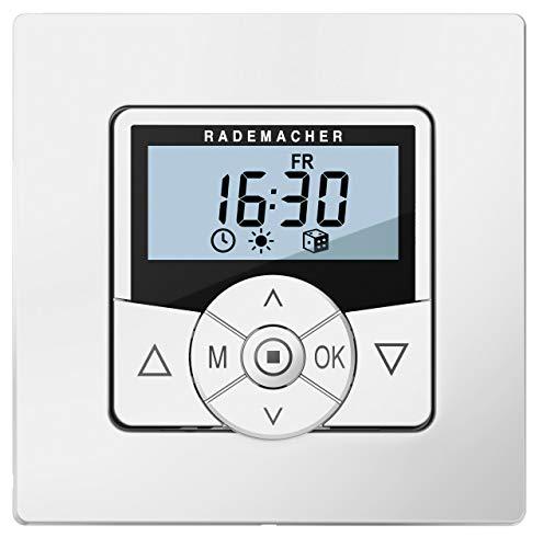 Rademacher Troll Comfort Zeitschaltuhr 5625-UW, Rohrmotor- & Rollladen-Steuerung mit Raffstore- & Astro-Funktion, Ultraweiß/Weiß, 36500012