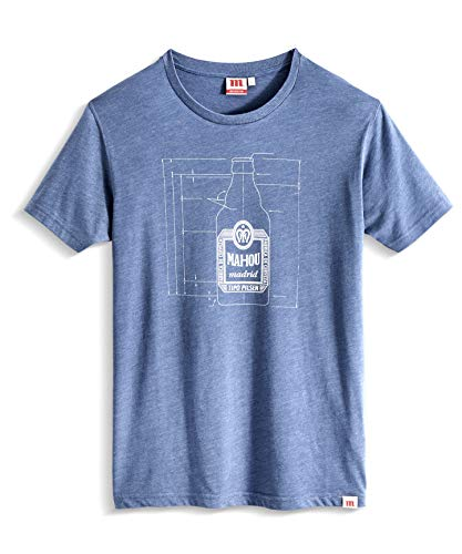 Preisvergleich Produktbild Wahou! by Mahou Herren Cotas Botella 1950 Unterhemd,  blau Marengo