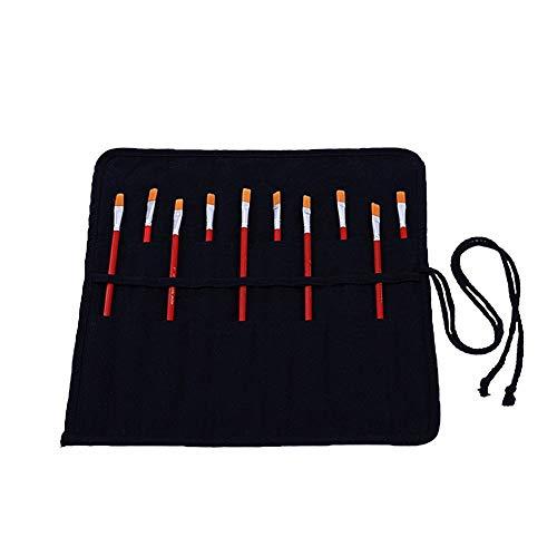 LYsng Porta Pinceles Multifuncional Estuche Enrollable Estuche Pinceles Estuches De LáPices para Escuela Oficina Estudiantes Artistas Escritores Niños