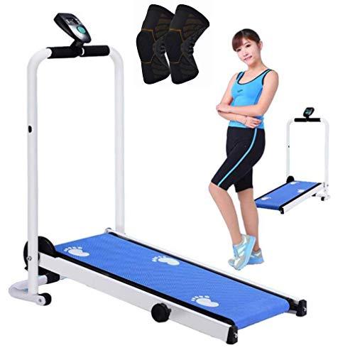 MG REAL Folding Laufbänder Tragbare Mini-Mechanische Laufende Maschine Für Home Gym 198 Lbs Gewicht Kapazität Walking-Ausrüstung Mit Pulley