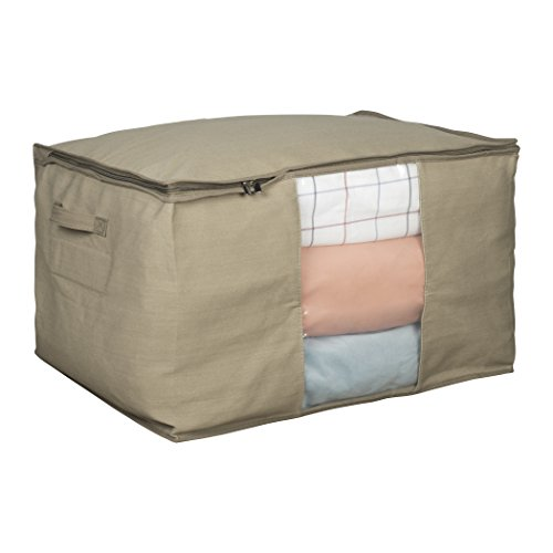 Richards Homewares Cedar Storage Bag- Extra Large - Breathable Canvas - Easy View Top Panel