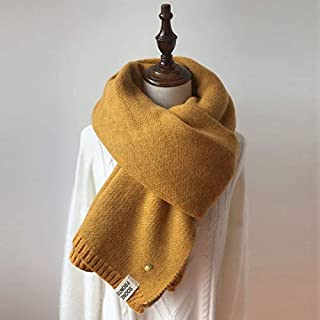 New Fashion Clothing Accessories Pineapple Pattern Thick Knit Double-sided Scarf, Length: 200cm(Sky Blue) (Color : Yellow)