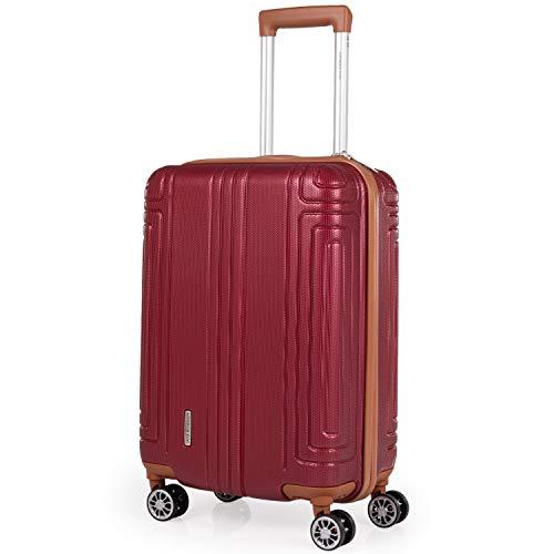 London Fog Koffer-Set Rot burgunderfarben S