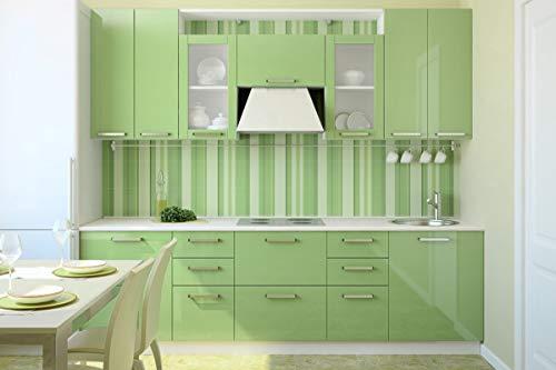 KINLO - Lámina adhesiva para muebles de cocina de PVC de alta calidad, resistente al agua, adhesivo decorativo para armarios con purpurina