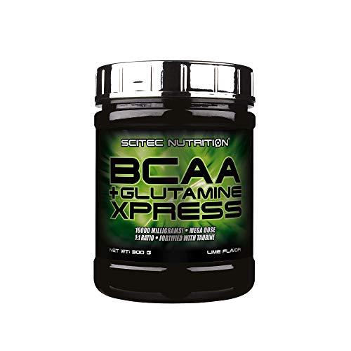 Scitec Nutrition BCAA + Glutamine Xpress, arricchito con taurina, senza zucchero, 300 g, Lime