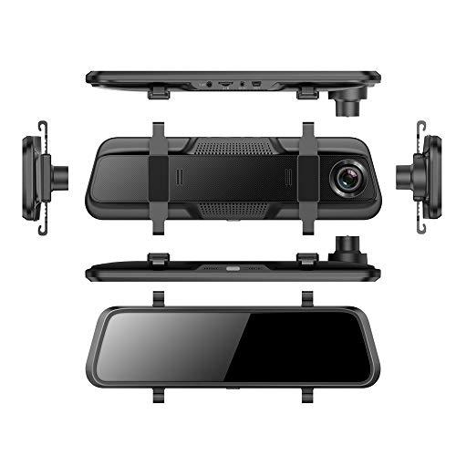 Hd 2k Heath Streaming Auto Recorder 10-Zoll-Touchscreen Lichtlose Nachtsicht Spiegel Dashcam HS33-2K