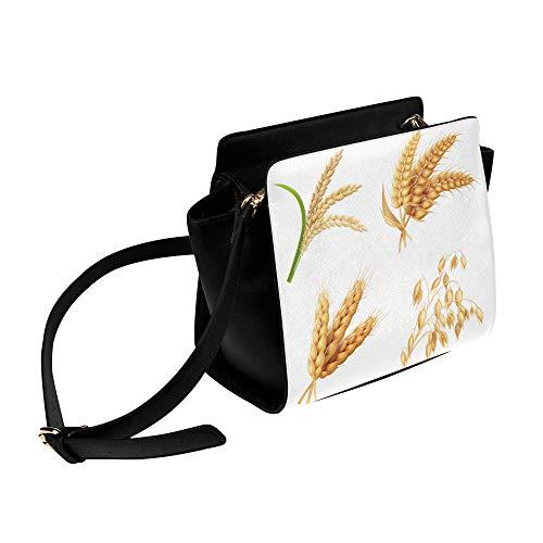 Rtosd Landwirtschaft Nutzpflanzen Reis Weizen Umhängetasche Umhängetaschen Reisetaschen Seesack Umhängetaschen Gepäck Organizer Für Lady Girls Womens Work Shopping Outdoor