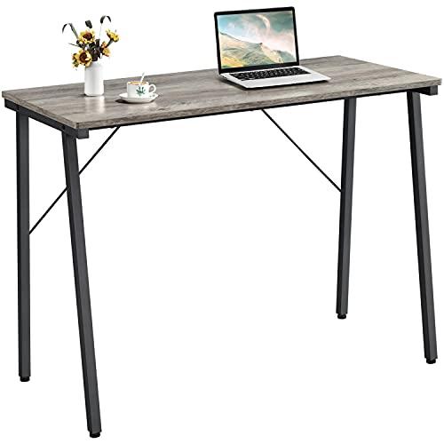 Yaheetech Schreibtisch, Computertisch, Homeoffice, Büro, Arbeitszimmer, Wohnzimmer, Industrie-Design, 100 x 50 x 75 cm, Grau-schwarz