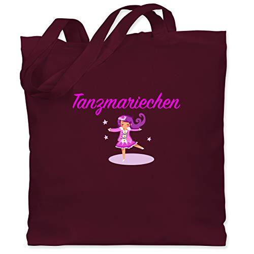 Shirtracer Karneval & Fasching - Tanzmariechen pink - Unisize - Bordeauxrot - tanzmariechen - WM101 - Stoffbeutel aus Baumwolle Jutebeutel lange Henkel
