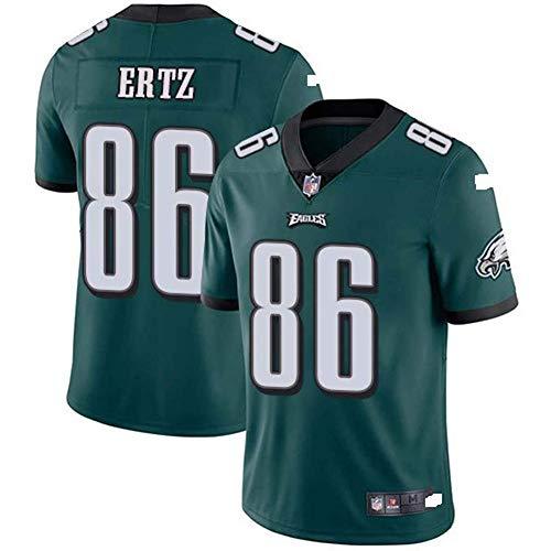 anking NFL-Fußballtrikot Philadelphia Eagles Eagle Eagles 86# Elite Edition Besticktes Fußballtrikot Kurzärmliges Sport-Top-T-Shirt NFL-Jersey,Grün,M