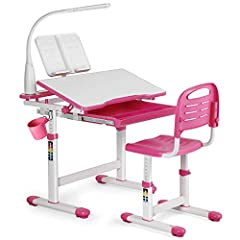 B//H//T: Rosa// Pink Robas Lund Schreibtisch für Kinder höhenverstellbar rosa