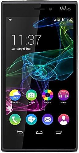 Wiko Ridge 4G Dual-Sim Smartphone (5 Zoll (12,7 cm) Touch-Display, 16 GB Speicher, Android 4.4.4) Schwarz  grau