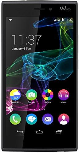 Wiko Ridge Fab Smartphone (13,9 cm (5,5 Zoll) Display, 16 GB Speicher, Android 4.4 KitKat) schwarz/grau