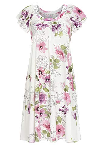 La plus belle Damen Nachthemd aus Leichter Webware bunt 40 1286005, bunt, 40