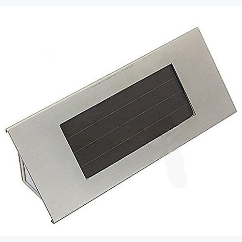 House Number Light - TOOGOO(R)18cm Solar 4 LED stainless steel house number light solar lamp house number house lamp