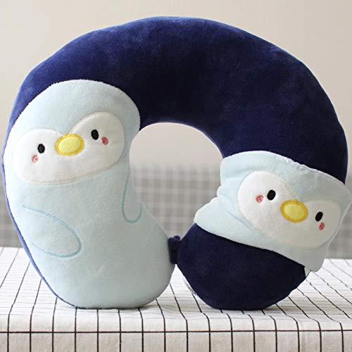 Lindo Dibujo Animado máscara Ocular Cuello u Almohada u Cuello Almohada Oficina de Estudiante Cervical Cabeza Almohada Vuelo Almohada, Pingüinos Dibujos Animados, Almohadas y Parches.
