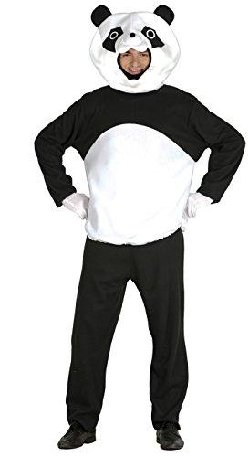 Guirca- Disfraz adulto oso panda, Talla 52-54 (84609.0)
