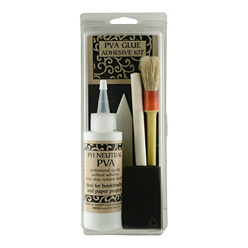 Lineco Book by Hand PVA Glue Adhesive Kit for Bookbinding and Craft Making (BBHM207K)