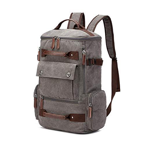 LQ Rugzak voor heren, hoogwaardige kwaliteit, vintage zeildoek, rugzak, schooltas, grote capaciteit, rugzak, laptop-rugzak