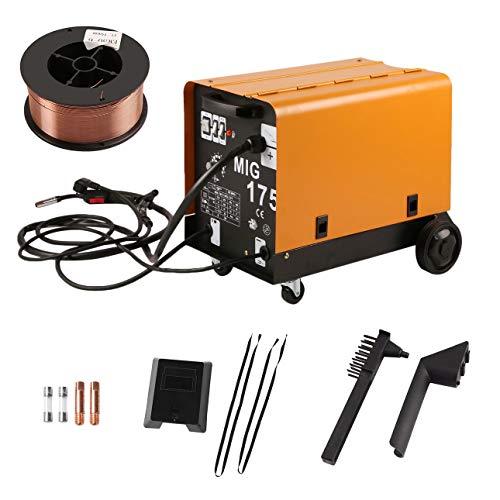 Pudincoco MIG-175 Monofásico Ventilador de Enfriamiento Portátil Alambre Estable Máquina de Soldadura Apantallada a Gas para Soldadura Enchufe de la UE