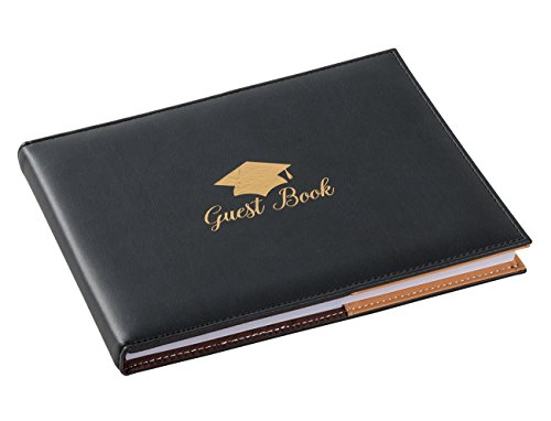 Juvale Graduation Guestbook, Guest Sign-in Book (8.3 x 6.5 Inches, 72 Sheets)