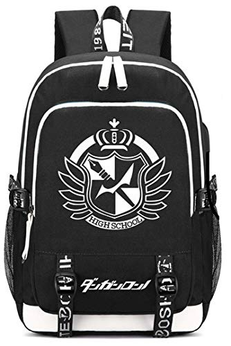 YOYOSHome Japanese Anime Danganronpa Cosplay Daypack Bookbag Laptop Bag Backpack School Bag with USB Charging Port