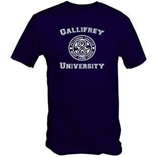 University of Gallifrey T Shirt DR WHO T Shirt (Available in Blue, Black and Red Sizes Small to XXL) (XL, Blue)