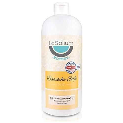 Basische Waschlotion – Duschgel in Bio-Qualität und ohne Parabene, Farb- oder Duftstoffe für Gesicht, Hände und Körper – 1000 ml Vorratsflasche. Basische Körperpflege für alle Hauttypen.