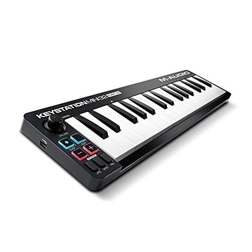 M-Audio Keystation Mini 32 MKIII – Ultra-draagbare Mini USB MIDI Keyboard Controller met ProTools First   M-Audio…