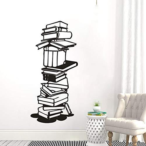 yaonuli Muursticker, afneembare vinyl bibliotheek, schoolboeken, wandsticker, boekenhandel, wandfoto, bibliotheek, decoratie
