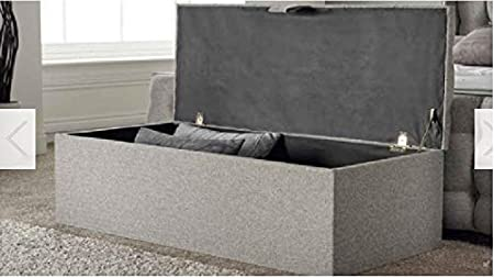 Cream, length 30 x Depth 13 x Hieght 13 Spring Well,New Colchester Style,Beautiful Crushed Velvet Fabric Chest Box//Storage Blanket Box Ottoman