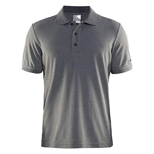 Craft Herren Poloshirt Polo Pique Classic 192466 Dk Grey Melange L
