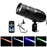 softeen 15W Pinspot LED Light Multi Colors with Remote for Disco Ball, Pinspot Lamp Stage Light with Professional Hanging Hook, Available in Red, Green, Blue, White Colors, Ideal for Dance Halls Stage
