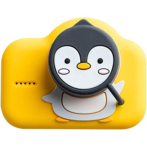 yanzz Mini Kids Digital Camera Cartoon Pet SLR 2000W Pixel 2.0 Inch HD Screen 1080P Timer Selfie Auto USB Charging Best Gift for Children,Yellow