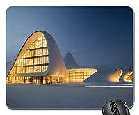 現代建築都市景観ライトカスタマイズされたマウスパッド長方形マウスパッドゲーミングマウスマット