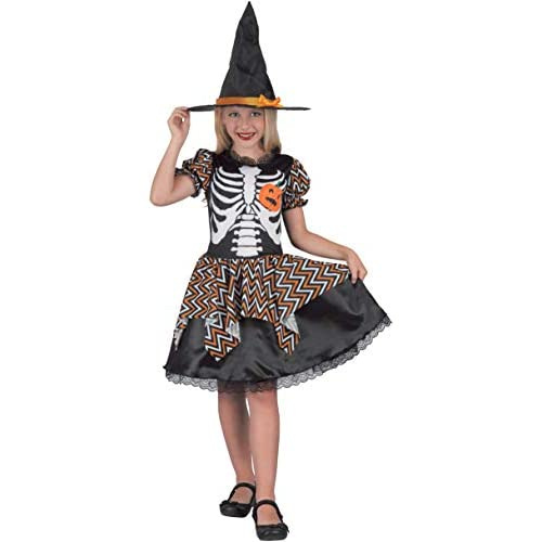 Costume bambina Strega Skully, 5-7 anni