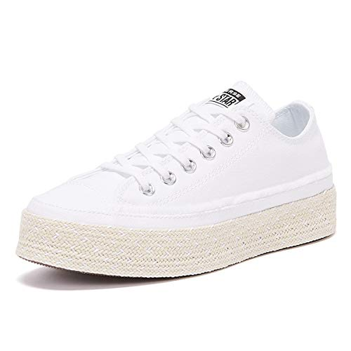 Converse All Star Espadrille Frauen Weiße Sneakers-UK 7 / EU 40